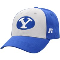 Men's Russell Athletic Gray/Royal BYU Cougars Endless Two-Tone Adjustable Hat - OSFA