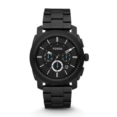Men's Machine Black Stainless Steel Chronograph Watch (Style: FS4552)