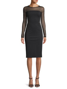 Illusion Bodycon Dress