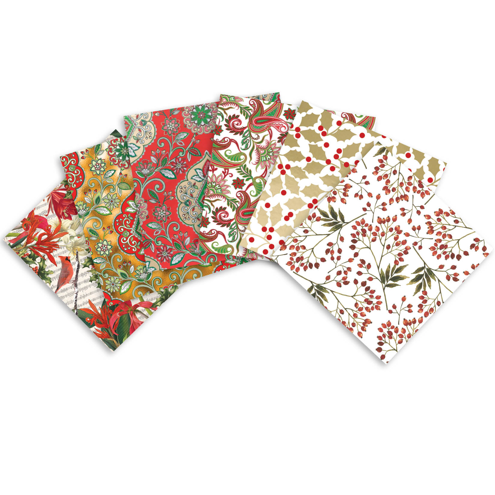 Jillson & Roberts Printed Gift Tissue Assortment, Christmas Designs (24 Sheets)