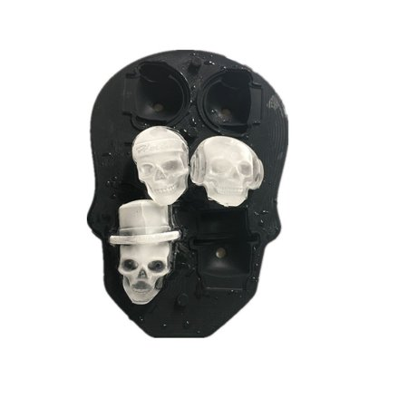 3D creative silica gel Skull Ice Cube Mold Tray, For Halloween gifts, parties,