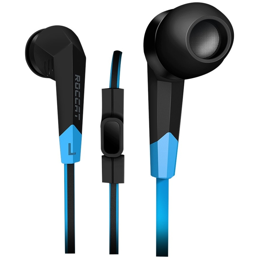Roccat Earset - Stereo - Black, Blue - Mini-phone - Wired - 16 Ohm - 20 Hz - 22 Khz - Earbud - Binaural - In-ear - Omni-directional Microphone (roc-14-100)