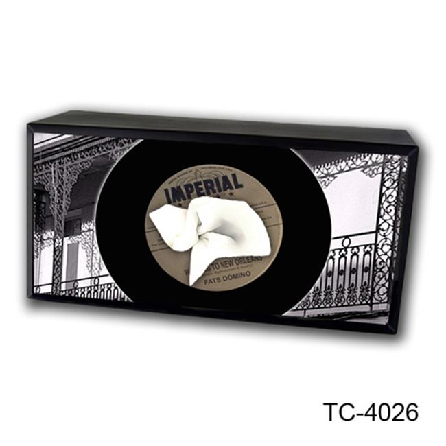 Caravelle Designs TC-4026 Record-Fats Domino Tissue Box Cover