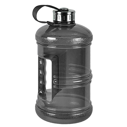 3 Liter BPA Free Reusable Plastic Drinking Water Bottle Jug Container w/ Hand Holder Canteen and Stainless Steel Cap