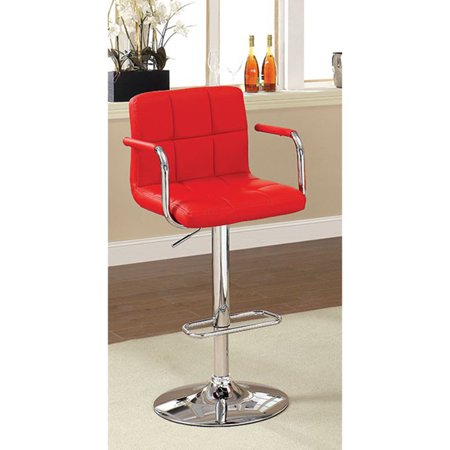 Contemporary Bar Stool With Arm In Red ()