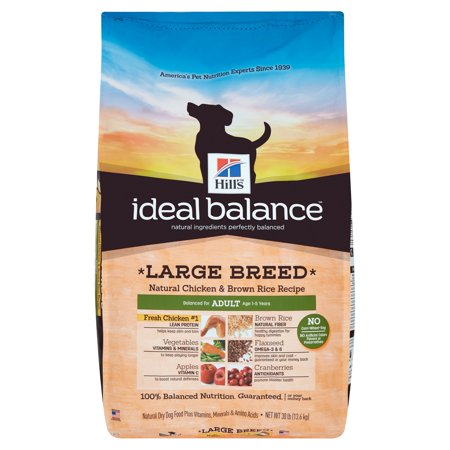 Hills Ideal Balance Large Breed Natural Chicken   Brown Rice Recipe Dry Dog Food  30 Lb