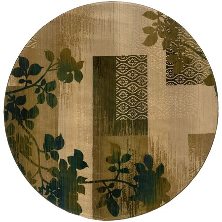 Moretti Argan Area Rugs - 996G0 Transitional Casual Beige Blocks Branches Leaves Flowers Rug 8