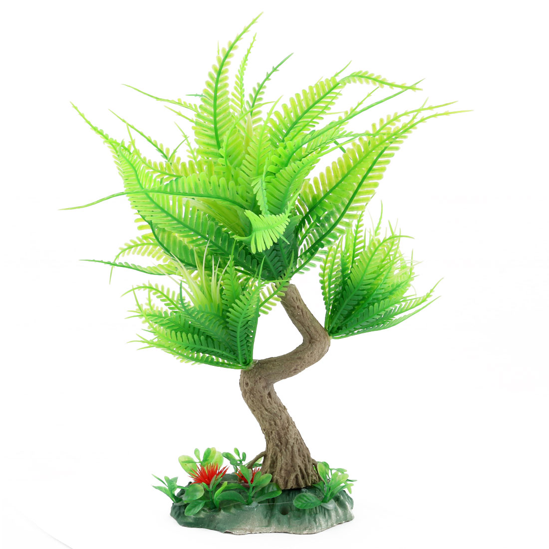 Home Office Fish Tank Aquarium Tree Designed Underwater Ornament Plant Green