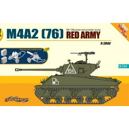1/35 M4A2(76) Red Army Tank w/Maxim Machine Gun