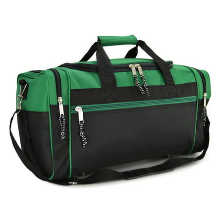 21 Blank Sports Duffle Bag Gym Travel Duffel With Adjule Strap In Green