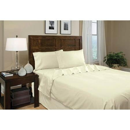 Supreme Super Soft 3 Piece Bed Sheet Set Deep Pocket Bedding - Twin Size Ivory