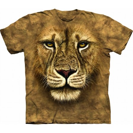 100% Cotton Lion Warrior Awesome Animal Youth T-Shirt (Small) ()