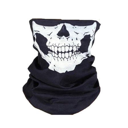Ustyle Halloween Motorcycle Skull Neck Face Mask Seamless Headwear Hiking Cycling Scarf Ski Cap Snowboard Headband - image 1 of 1