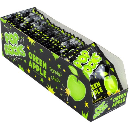 Pop Rocks Green Apple Popping Candy, 24 count, 8.04 oz](Who Sells Rock Candy)