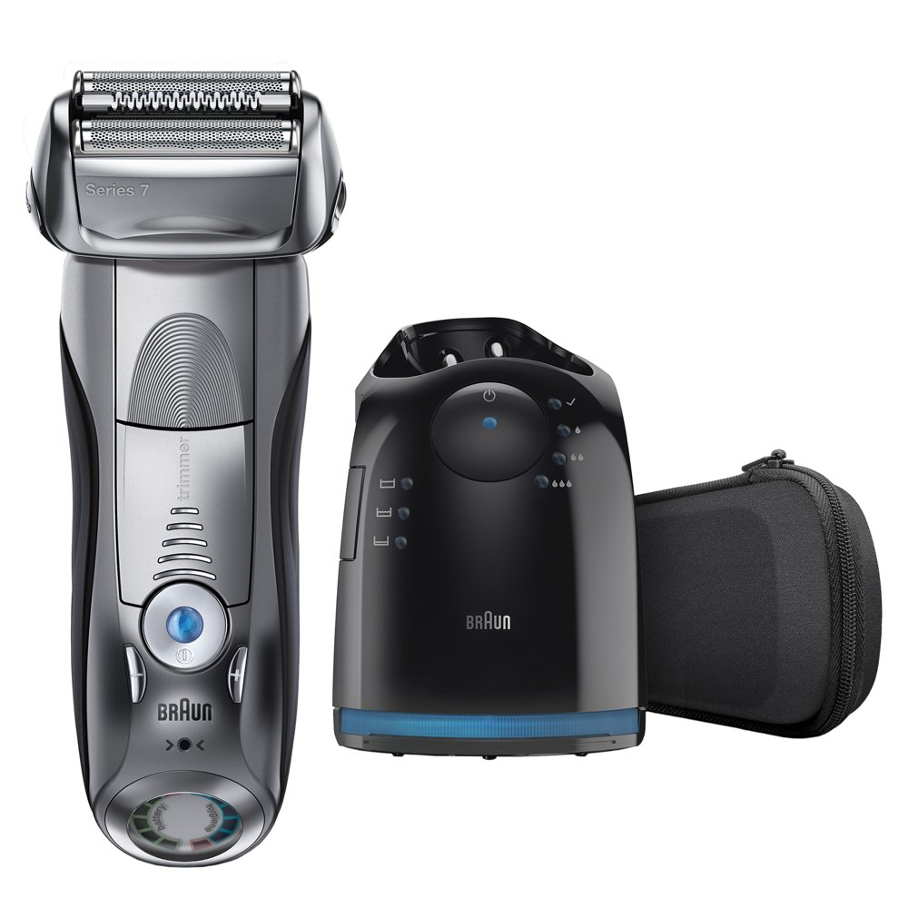 Braun Series 7 790cc Wet Dry Mens Electric Shaver with Clean Station
