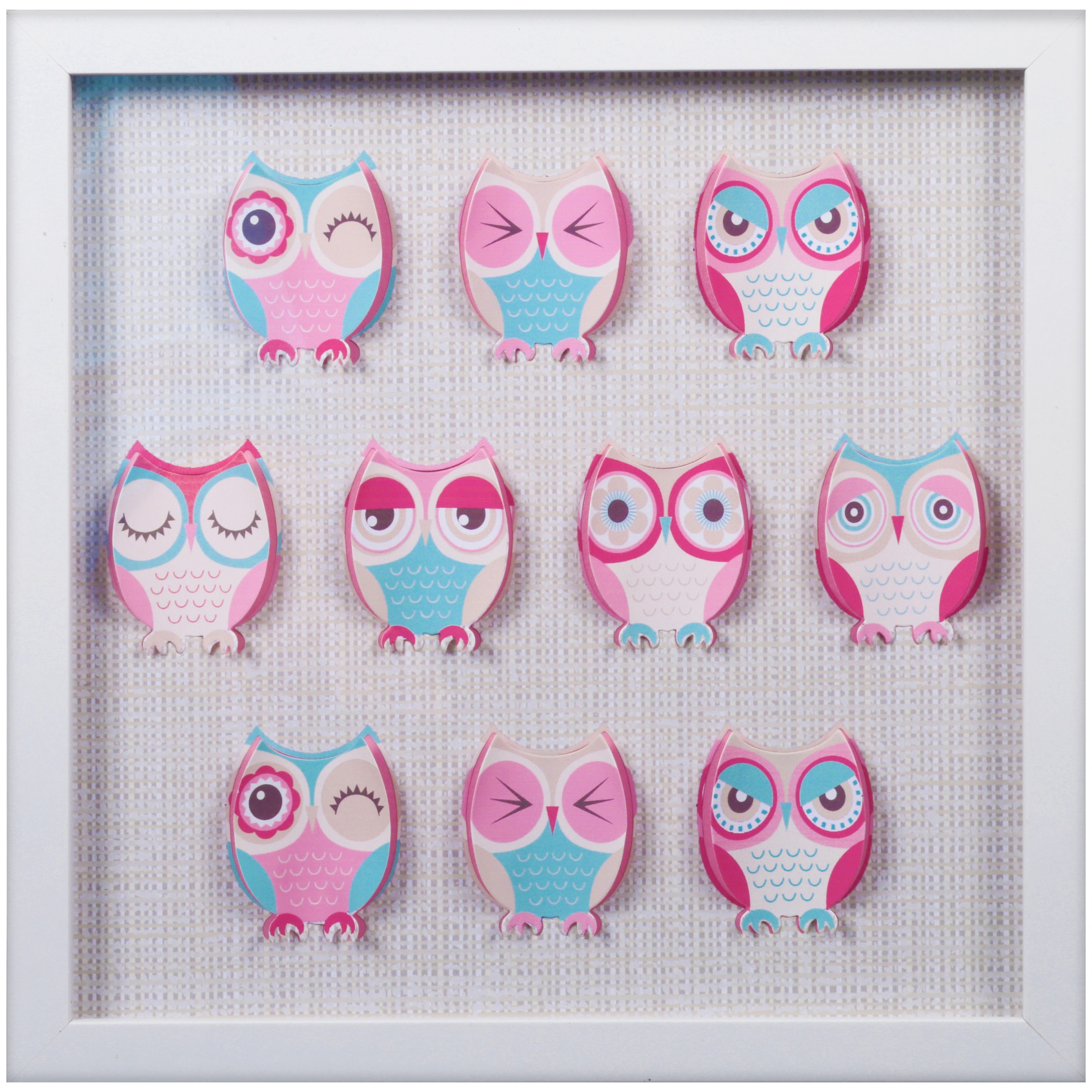 Edge Home Owls Framed Wall Hanging by Edge Home
