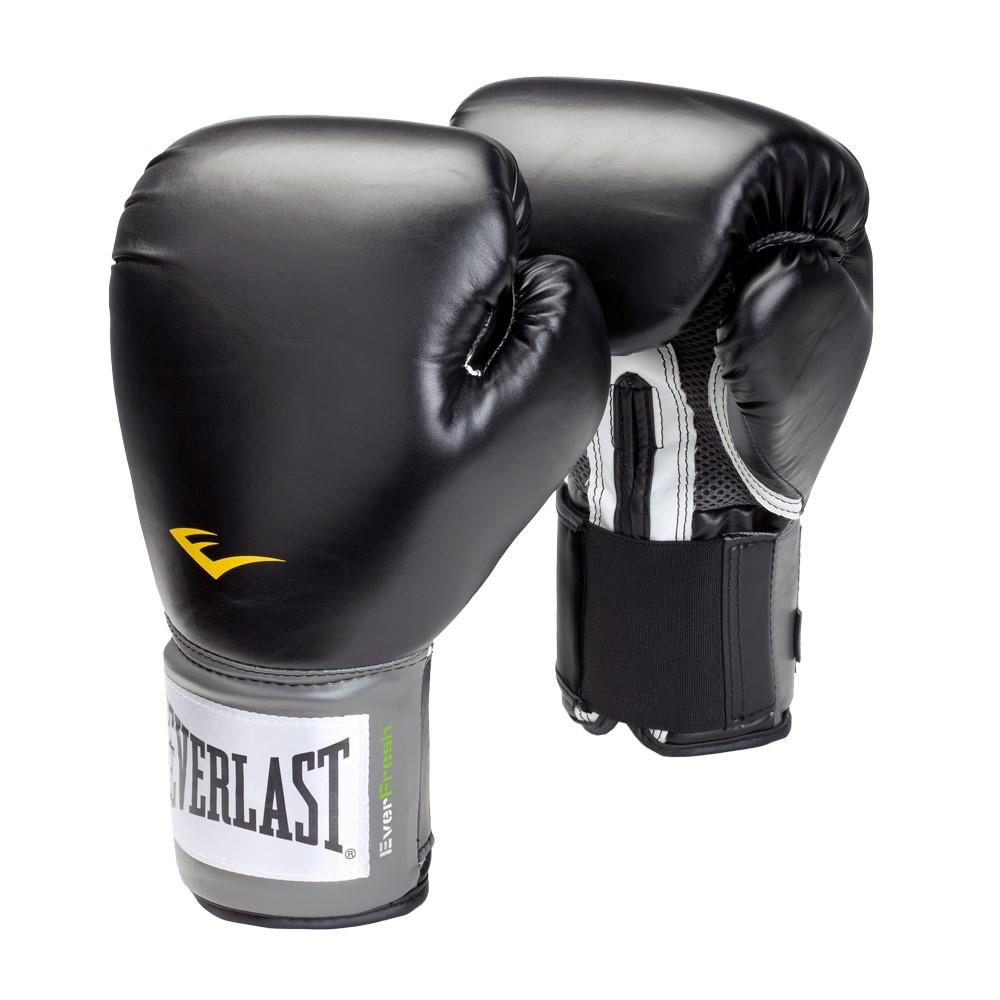Everlast Pro Style Boxing Gloves, 16oz, Black