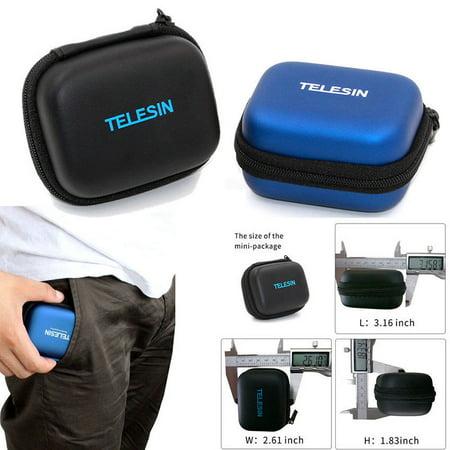 Mini Storage Case Box for GoPro Hero 6/5/4/3+ Session 5/4 Camera Accessories blue ()