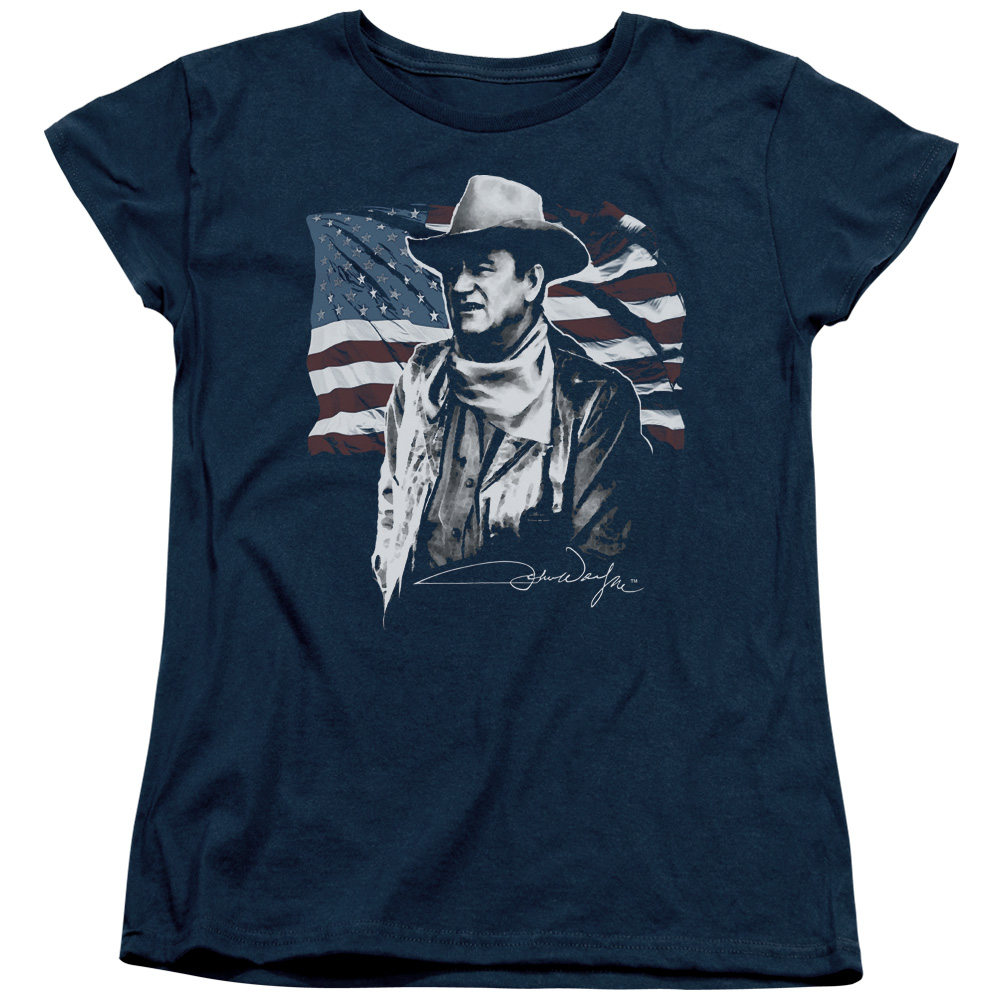 John Wayne American Idol Womens Short Sleeve Shirt