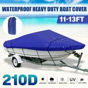 Waterproof Dustproof Boat Cover Heavy Duty For Fishing Ski Sports & Outdoors V-Hull Speedboat 14-16ft/ 17-19ft/ 20-22ft