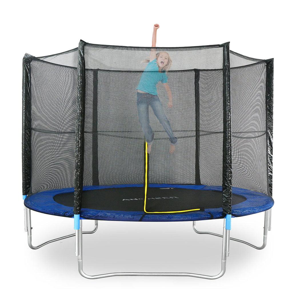 Ancheer 8ft Kid Trampoline With Enclosure,Jumper Round Game Trampoline