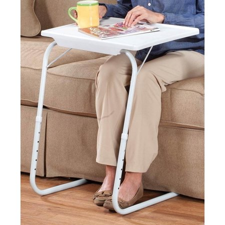 My Comfy Foldable Desk Mate Bedside Laptop Sofa/Couch Folding Table White