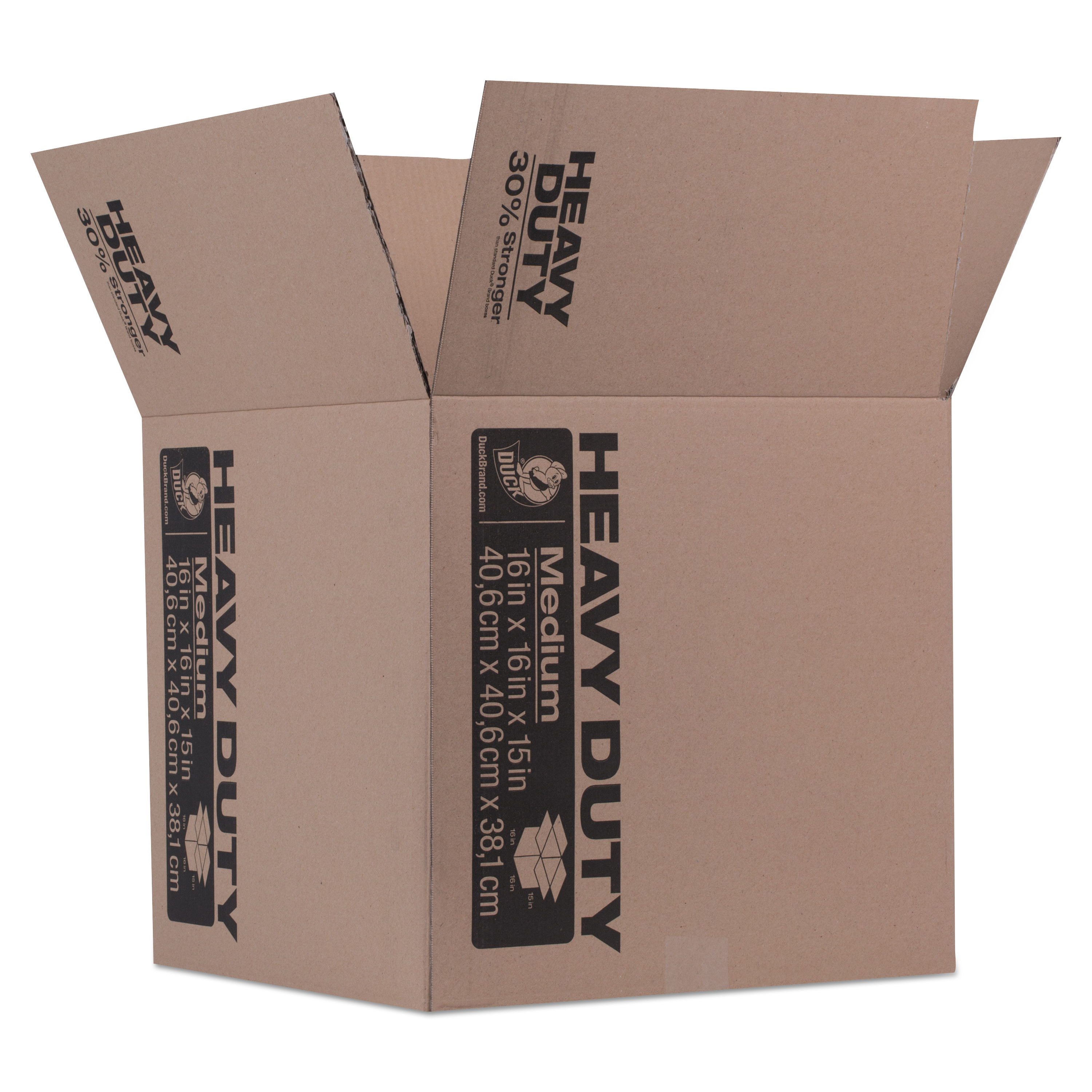 Duck Brand Kraft Box, 16 in. x 16 in. x 15 in., Brown, 1-Count