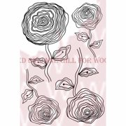 """Woodware Clear Stamps 3.5""""X5.5""""-Ranunculus"""