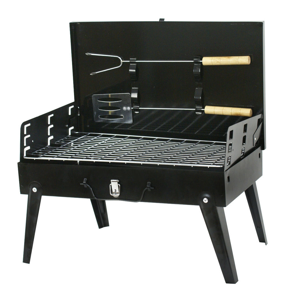 Zeny Portable Folding Charcoal BBQ Barbecue Grill Garden Party Outdoor Camping Tool