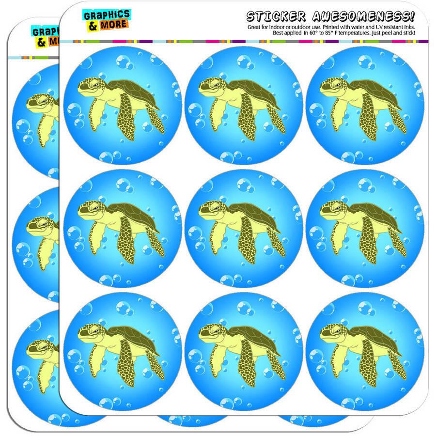 """Sea Turtle Ocean Cute 18 2"""" Planner Calendar Scrapbooking Crafting Stickers"""