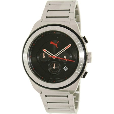 Puma Edge - L Silver Black Men watch PU102911001