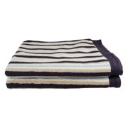 Impressions Tiana Striped Combed Cotton 2-Piece Bath Sheet Set