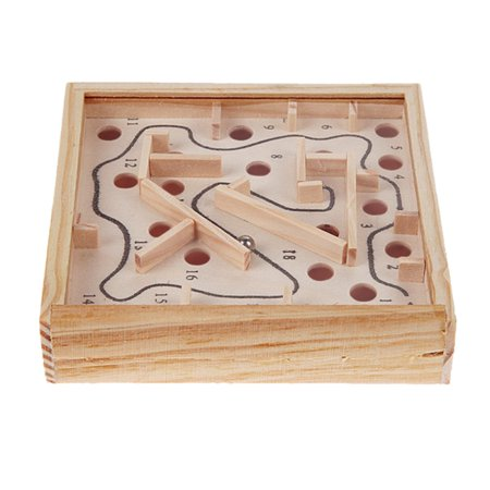 Children Educational Toys Wooden Game maze puzzle Toys Brain Teaser Puzzle Toy Mini Maze Intellectual Development Toy