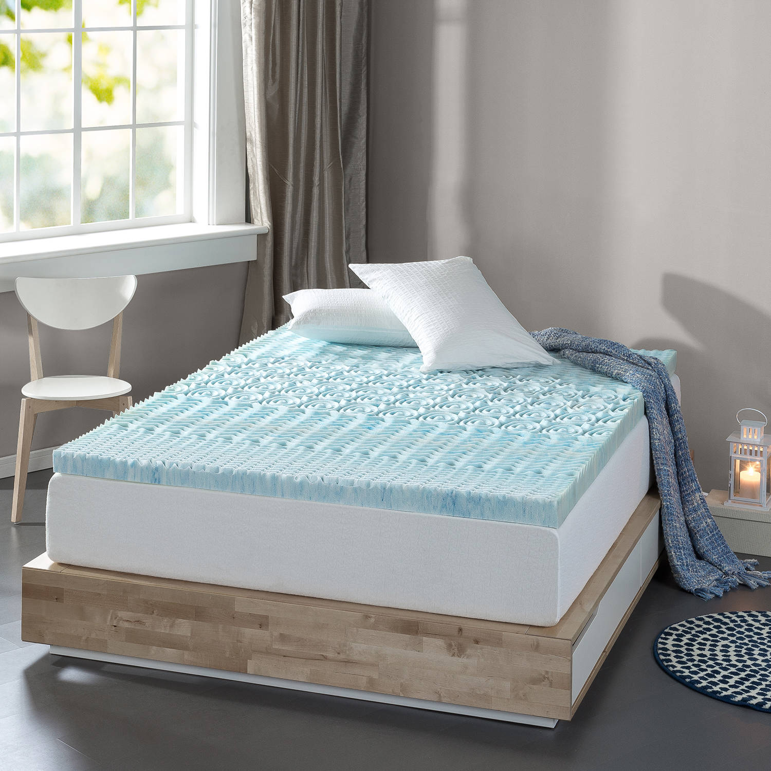 "Spa Sensations by Zinus Zoned Fusion Gel Memory Foam 3"" Mattress Topper"