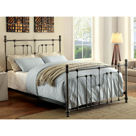 Furniture Of America Marco Industrial Black Metal Bed Multiple Sizes
