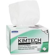 Kimtech Science Task Wipes Six Pack Kimwipes KCC34155-06 (Original Version), 280 wipes per pack. Six packs included. 6/280. 1680 wipes. By KimberlyClark