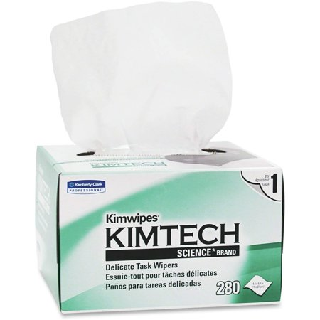 Kimtech Wipers - Kimtech Science Task Wipes Six Pack Kimwipes KCC34155-06 (Original Version), 280 wipes per pack. Six packs included. 6/280. 1680 wipes. By KimberlyClark