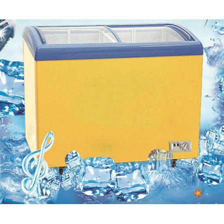 Freezer 3 Glass Doors - Techtongda Ice Cream Freezer 358L Chest Commercial Glass Curve Item# 025039