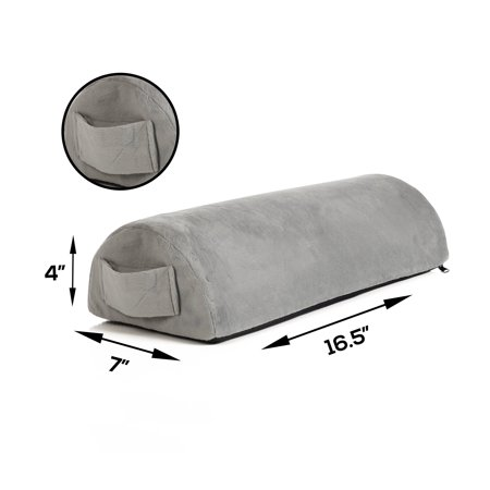 Memory Foam Pillow Supports Back, Head, Leg Knee Pain Relief, Bed, Chair seat Foot Rest Under Desk Cushion Sciatica Pregnancy Hip & Joint surgery Better Circulation Gentle Comfort, Alleviates