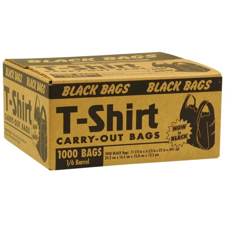 Black T Shirt Carryout Bags 1 000 Ct