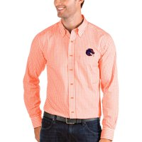 Boise State Broncos Antigua Structure Woven Button-Up Long Sleeve Shirt - Orange