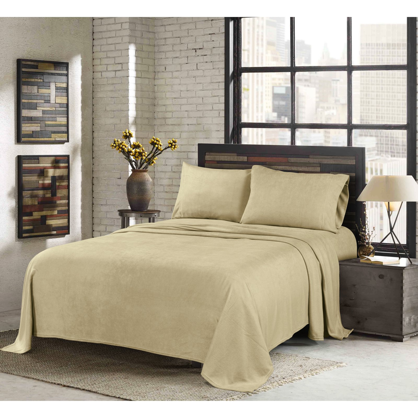 Super Soft Heavyeight Fleece Sheet Set by Sunbeam