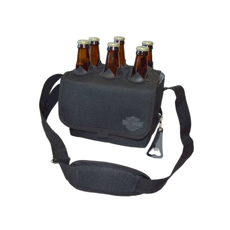 Harley-Davidson Six Porter Beverage Cooler, Bar & Shield Logo, Black 595-00, Harley Davidson - Harley Oil Cooler