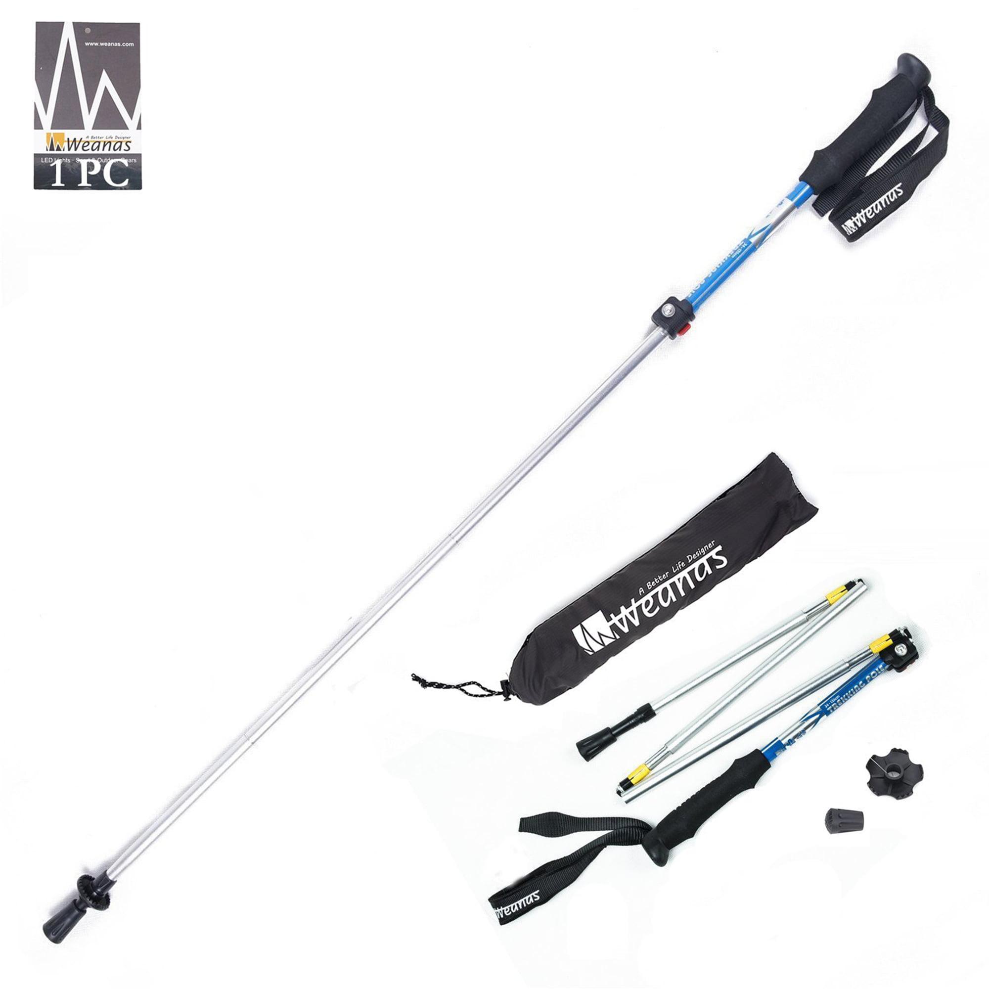 WEANAS Folding Collapsible Trekking Pole Climbing Stick with EVA Foam Handle, Ultralight Adjustable Alpenstocks,Travel... by Weanas