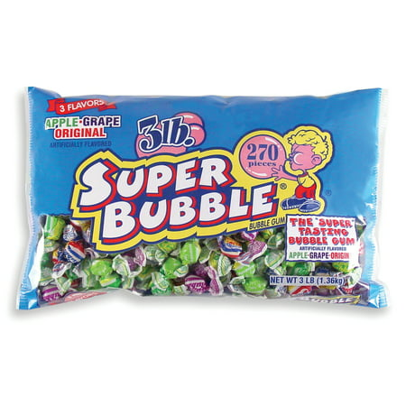 Super Bubble Assorted Bubble Gum, 48 Ounce Bag