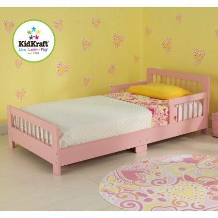 Slatted Pink Toddler Bed