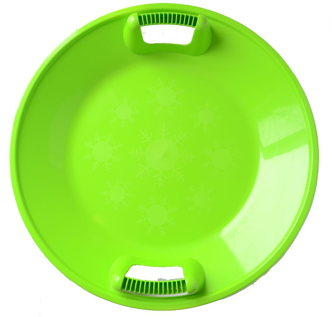Snow Sled Kids Winter Plastic Saucer , 25-inch Diameter ( green) by