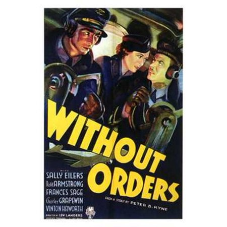 Without Orders Movie Poster  11 X 17