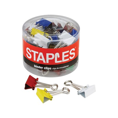 """Staples Micro Colored Binder Clips 1/2"""" Size with 1/8"""" Capacity 614399"""