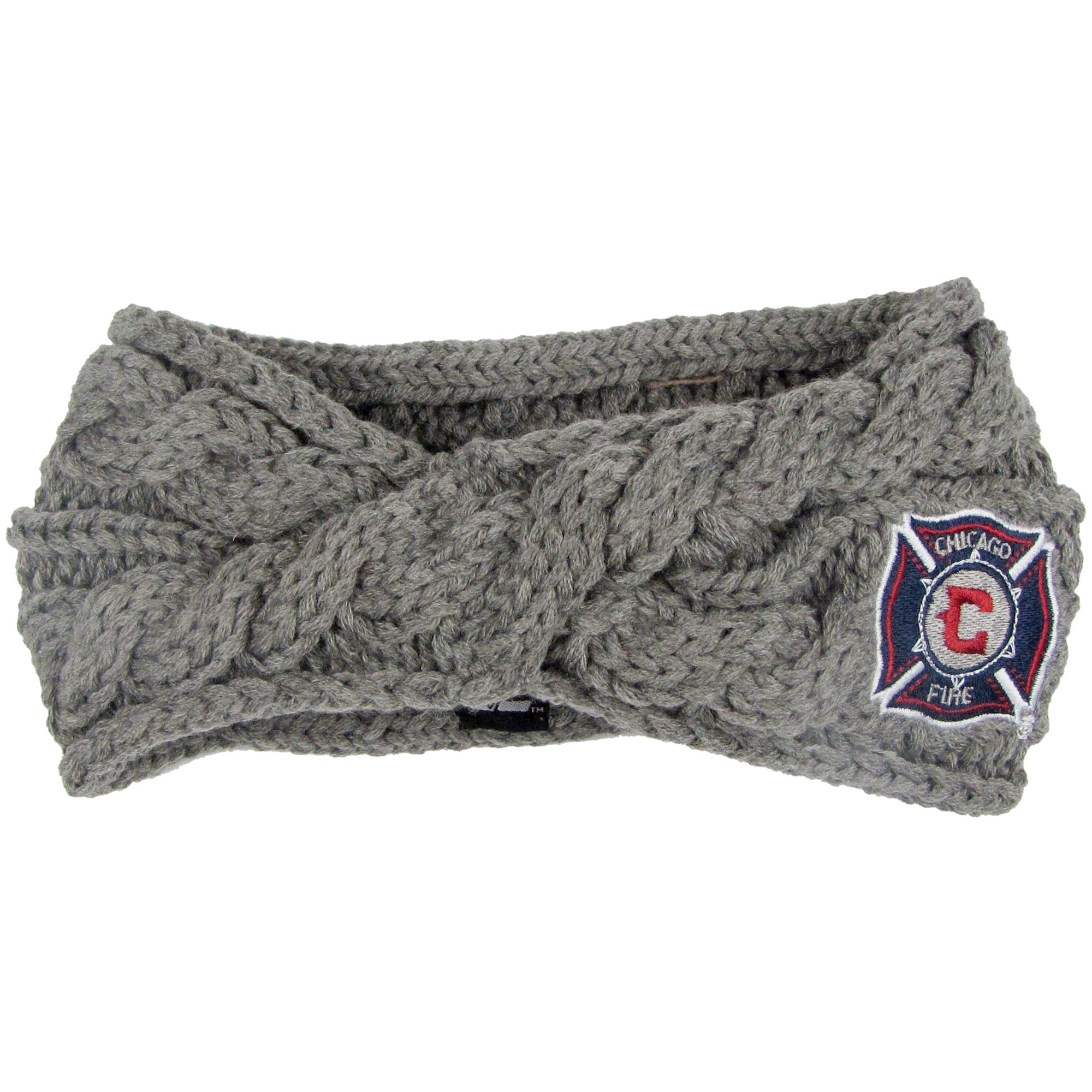 Chicago Fire ZooZatz Women's Cable Headband - Charcoal - No Size